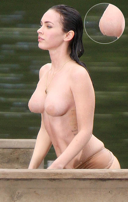 Nipples megan fox Megan Fox